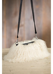 Tibetan Lamb Fur Muff Crossbody Clutch Handbag