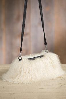 Tibetan Lamb Fur Muff Crossbody Handbag