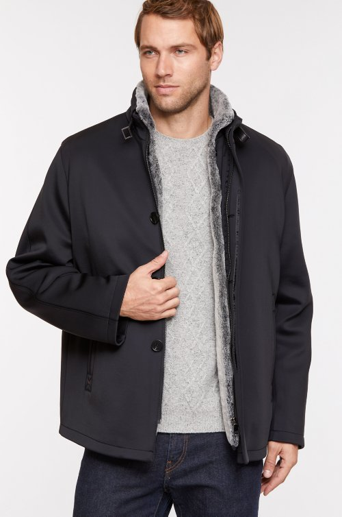 Stuart Microfiber Coat with Sheepskin Lining – Big (50-54)