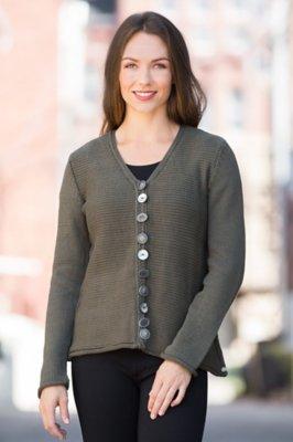 Pure Handknit Trailblazer Cotton Cardigan Sweater