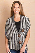 Ribbed Cotton Button Wrap