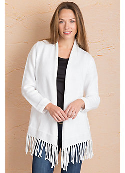 California Dreaming Cotton Open Cardigan Sweater