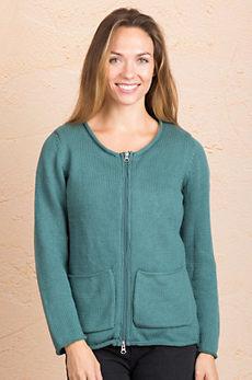 Sage Cotton Cardigan Sweater