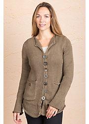 Aria Cotton Cardigan Sweater