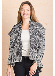 Harper Cotton Cardigan Open Sweater