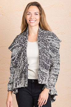 Harper Cotton Cardigan Open Sweater