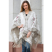 Edwardian Style Shawls Swirl Reversible Alpaca Wool Shawl BEIGE Size 1 Size $259.00 AT vintagedancer.com