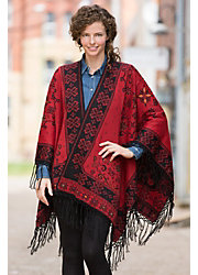 Swirl Reversible Alpaca Wool Shawl