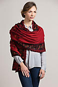 Heather Reversible Alpaca Wool Shawl