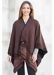 Edith Reversible Alpaca Wool Shawl