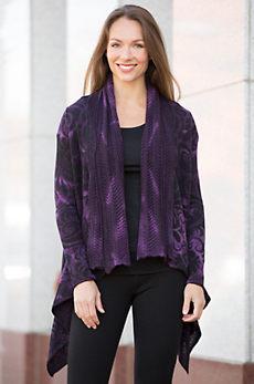 Justine Alpaca Wool Open Sweater
