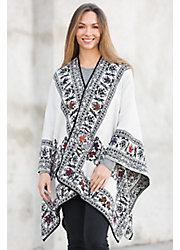 Meredith Reversible Alpaca Wool Shawl