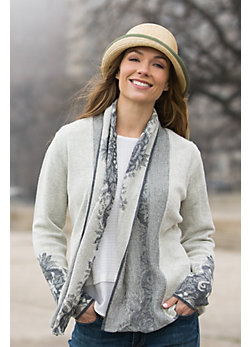 Natalie Alpaca Wool Open Cardigan Sweater