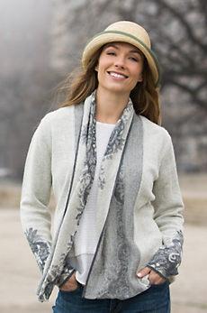 Natalie Alpaca Wool Open Cardigan Sweater