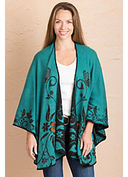 Jennine Reversible Alpaca Wool Shawl