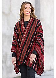 Cuzco Reversible Alpaca Wool Shawl