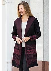 Valeria Alpaca Wool Open Hoodie Sweater