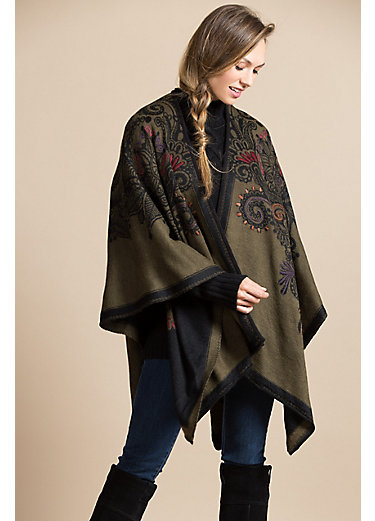 Selina Reversible Alpaca Wool Wrap