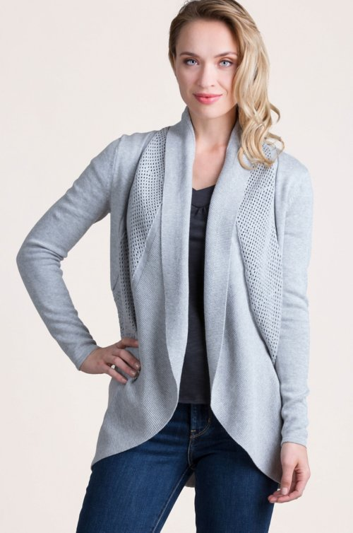 Dawn Peruvian Organic Pima Cotton Circle Cardigan Sweater