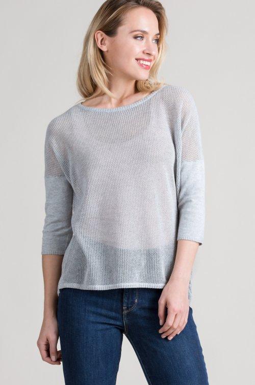 Makayla Peruvian Organic Cotton Mesh Pullover Sweater