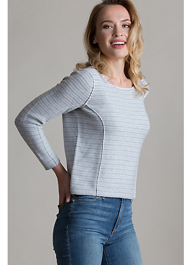 Haley Peruvian Organic Cotton Knit Pullover Sweater