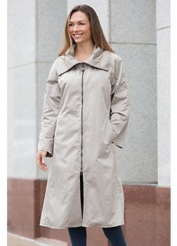 Janska Roma Waterproof Lightweight Coat with Detachable Hood