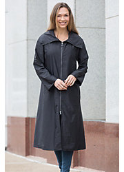 Janska Roma Waterproof Lightweight Coat with Detachable Hood