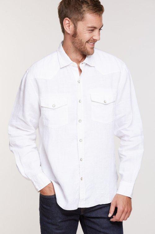 Tom Stone-Washed Linen Shirt