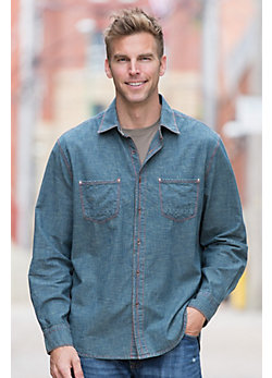 Willie Crosshatch Denim Cotton Shirt