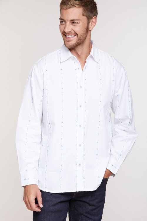 Scott Striped Cotton Shirt