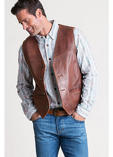 Jackson Distressed Lambskin Leather Vest