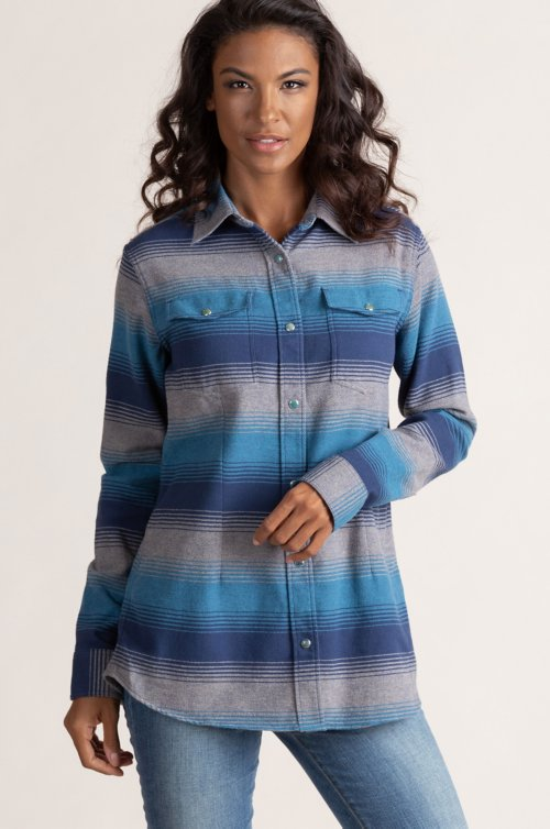 Chroma Ombre Cotton Flannel Shirt