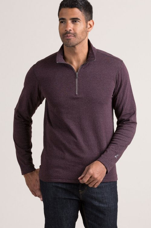Carson Cotton-Blend 1/4-Zip Front Pullover Shirt