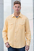 Ryan Michael Four-Needle Silk and Linen Shirt