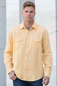 Ryan Michael Four-Needle Silk and Linen Shirt