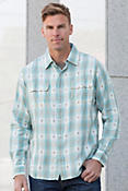 Ryan Michael Ombré Dobby Plaid Cotton Shirt