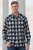 Ryan Michael Ikat Gingham Cotton Shirt