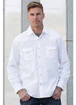 Ryan Michael Clip Jacquard Cotton Shirt
