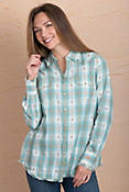 Ryan Michael Mixed Ombré Dobby Plaid Cotton Shirt