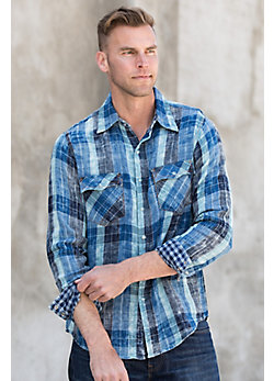 Ryan Michael Lake Travis Plaid Cotton Shirt