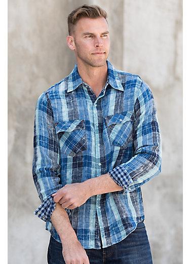 Ryan Michael Lake Travis Plaid Cotton Shirt