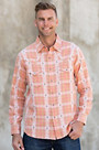 Ryan Michael Ombre Dobby Plaid Cotton Shirt