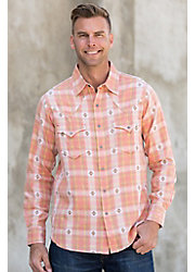 Ryan Michael Ombre Dobby Plaid Cotton Shirt