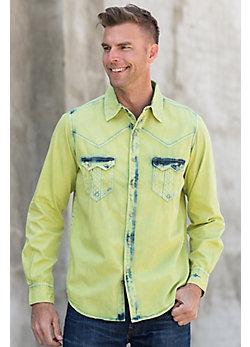 Ryan Michael Tinted Indigo Cotton Shirt
