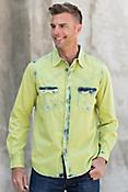 Ryan Michael Men's Tinted Indigo Cotton Shirt