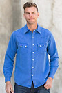 Ryan Michael Saw Tooth Silk and Linen Shirt