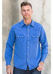 Ryan Michael Saw Tooth Silk and Linen Shirt