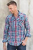 Ryan Michael Double Face Indigo Plaid Cotton Shirt