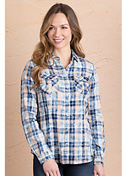 Ryan Michael Poster Print Plaid Cotton Shirt