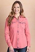 Ryan Michael Women's Tinted Indigo Cotton Shirt